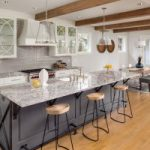 A minimalist look is in for kitchen remodels with classic white cabinets!
