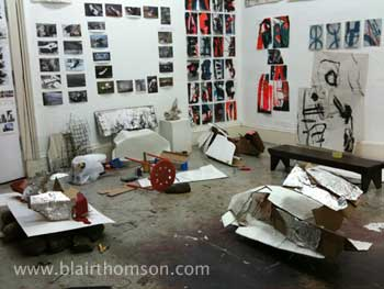 Blair Thomson's Studio, November 2011