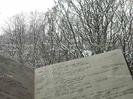 Snowy notes, thinking spaces