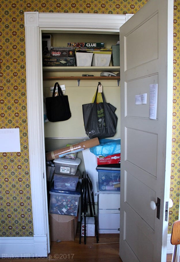 The Library Closet - Before & After - Blake Hill House