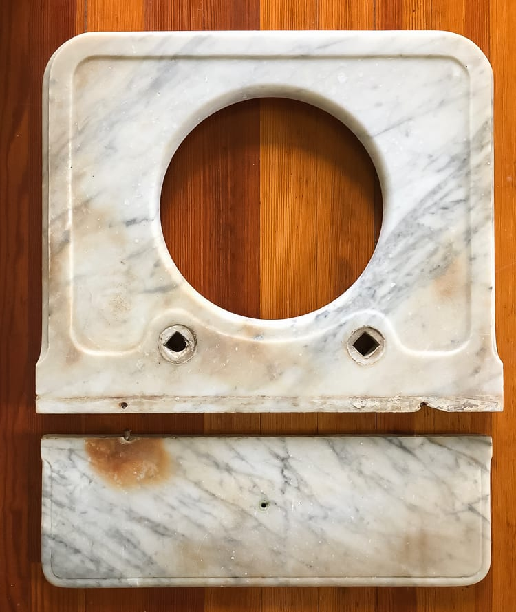 How To Restore an Antique Marble Sink Top Blake Hill House