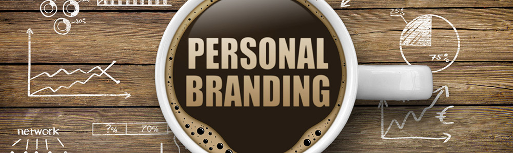 Coffee Cup with the words PERSONAL BRANDING in the foam