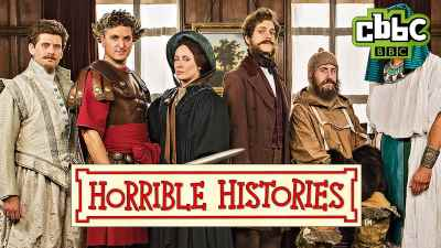 Image of cast from CBBC's Horrible Histories