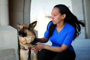 Haben-Girma-with-her-guide-dog