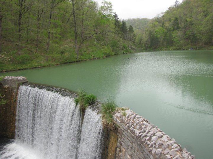 Mirror Lake and Falls at Blanchard Springs