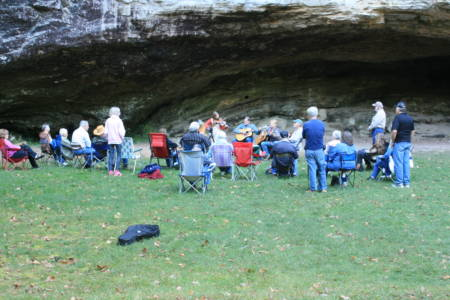 Blanchard Picking at the Shelter Cave