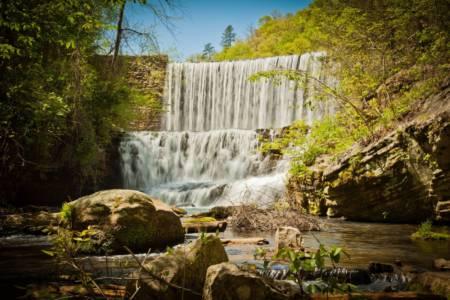 Mirror Lake Falls at Blanchard Springs 5
