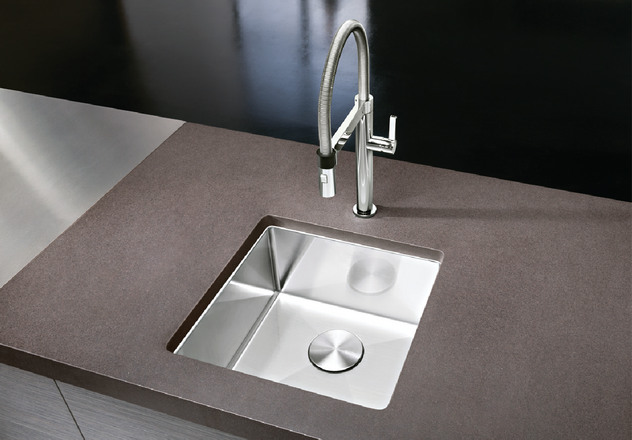 no touch kitchen faucet pop up electrical outlet counter blanco precision™ r10 bar sink |