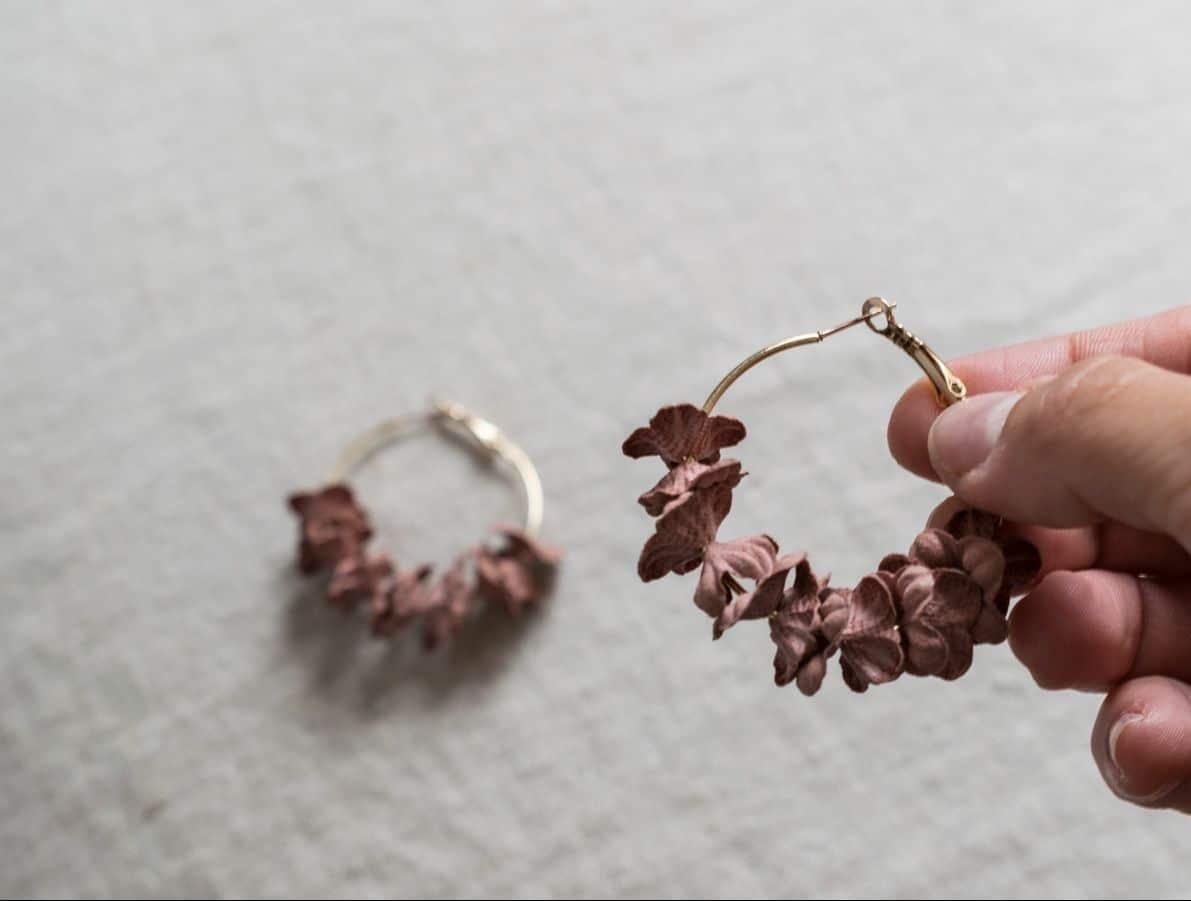 aros con flores