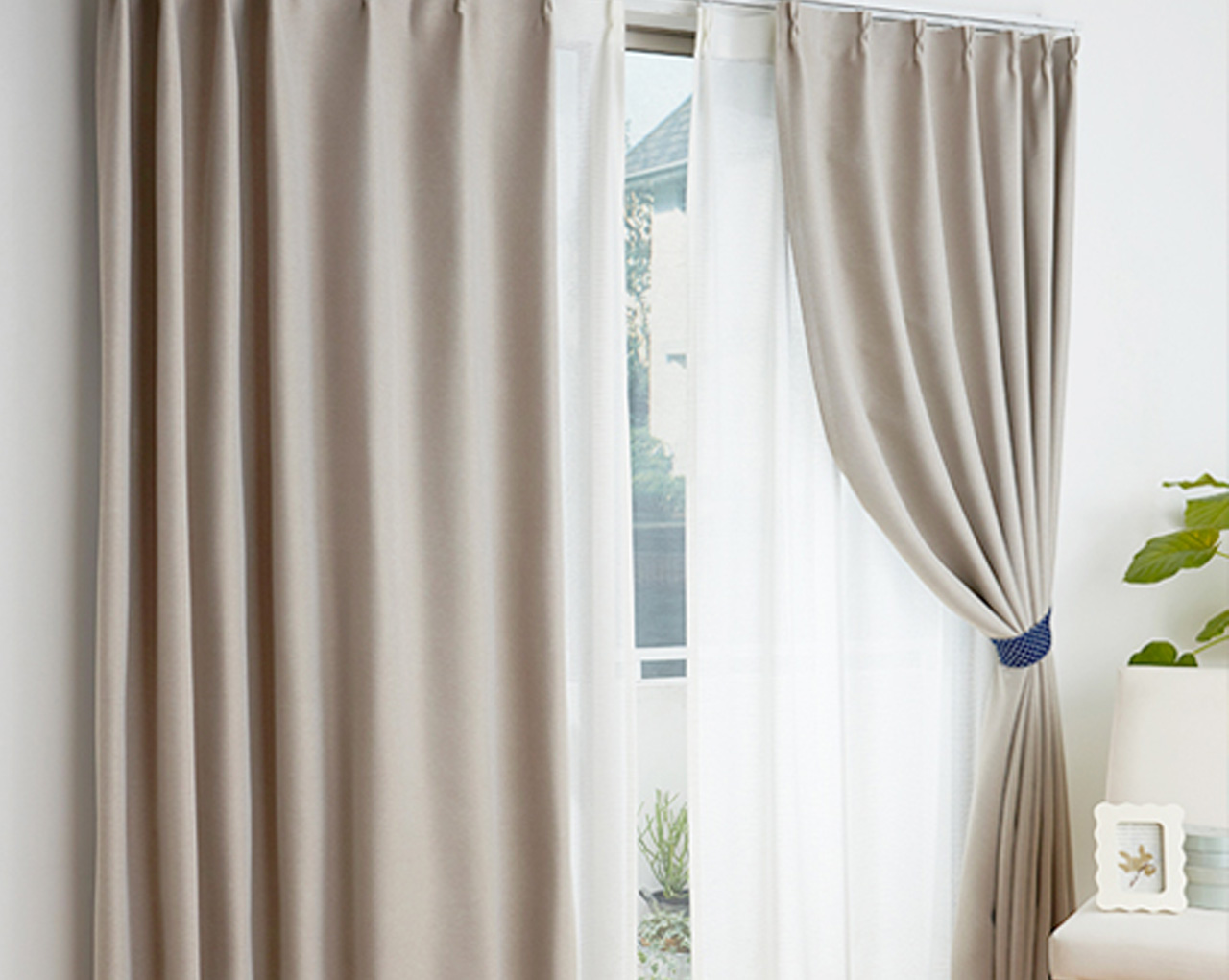 Cortinas decorativas Black Out  Blancos Poblanos