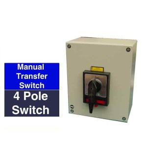 Compact manual changeover switch  4 pole rated from 20Amps to 125 Amps  Blandon Group