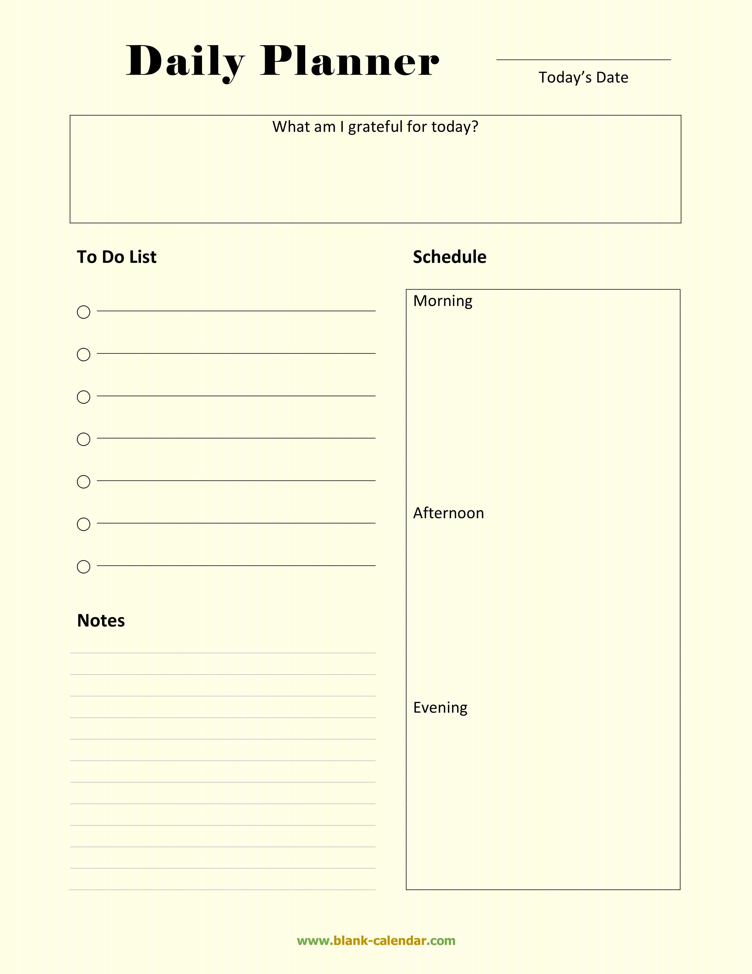 free schedule planner