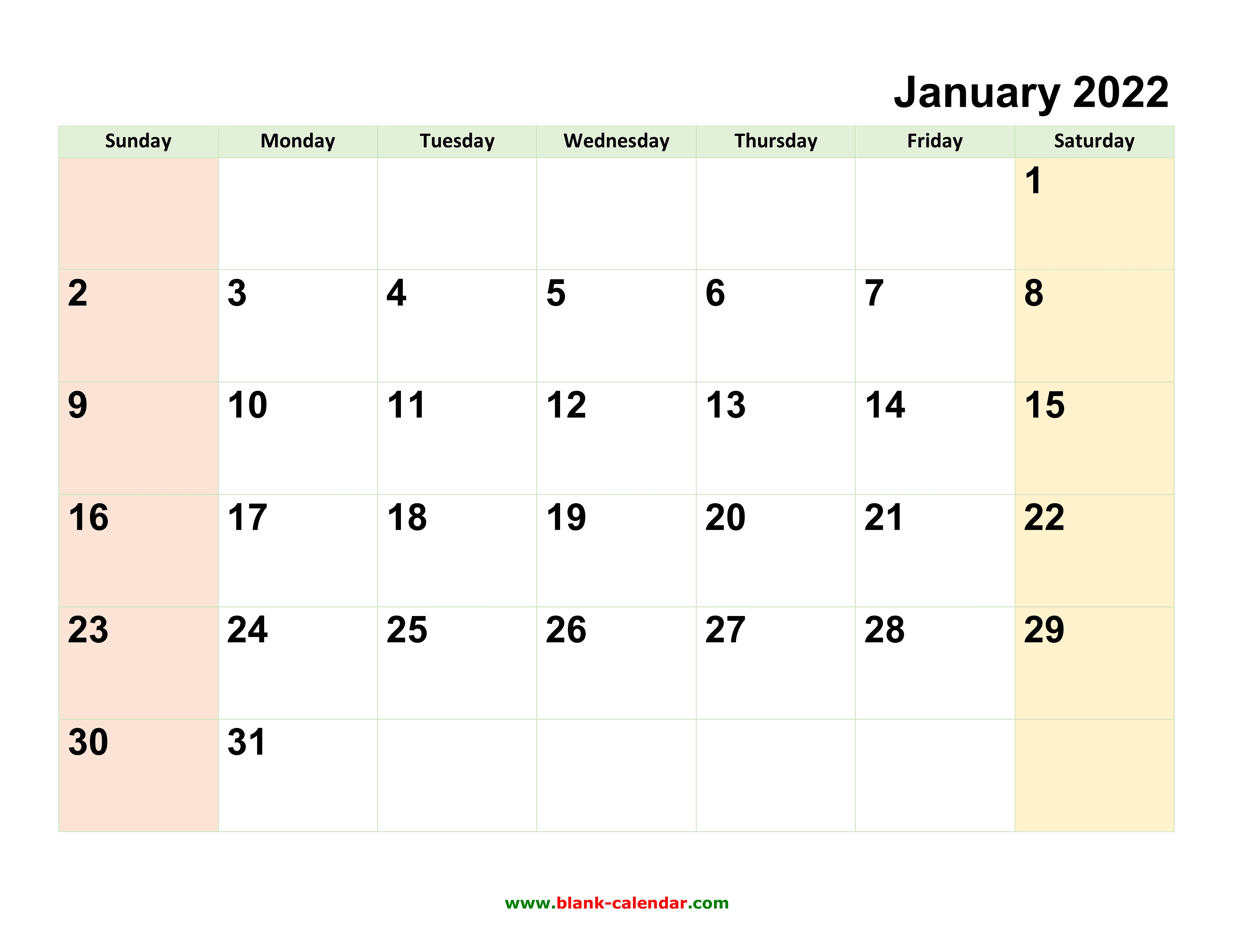 Monthly Calendar 2022 | Free Download, Editable and Printable