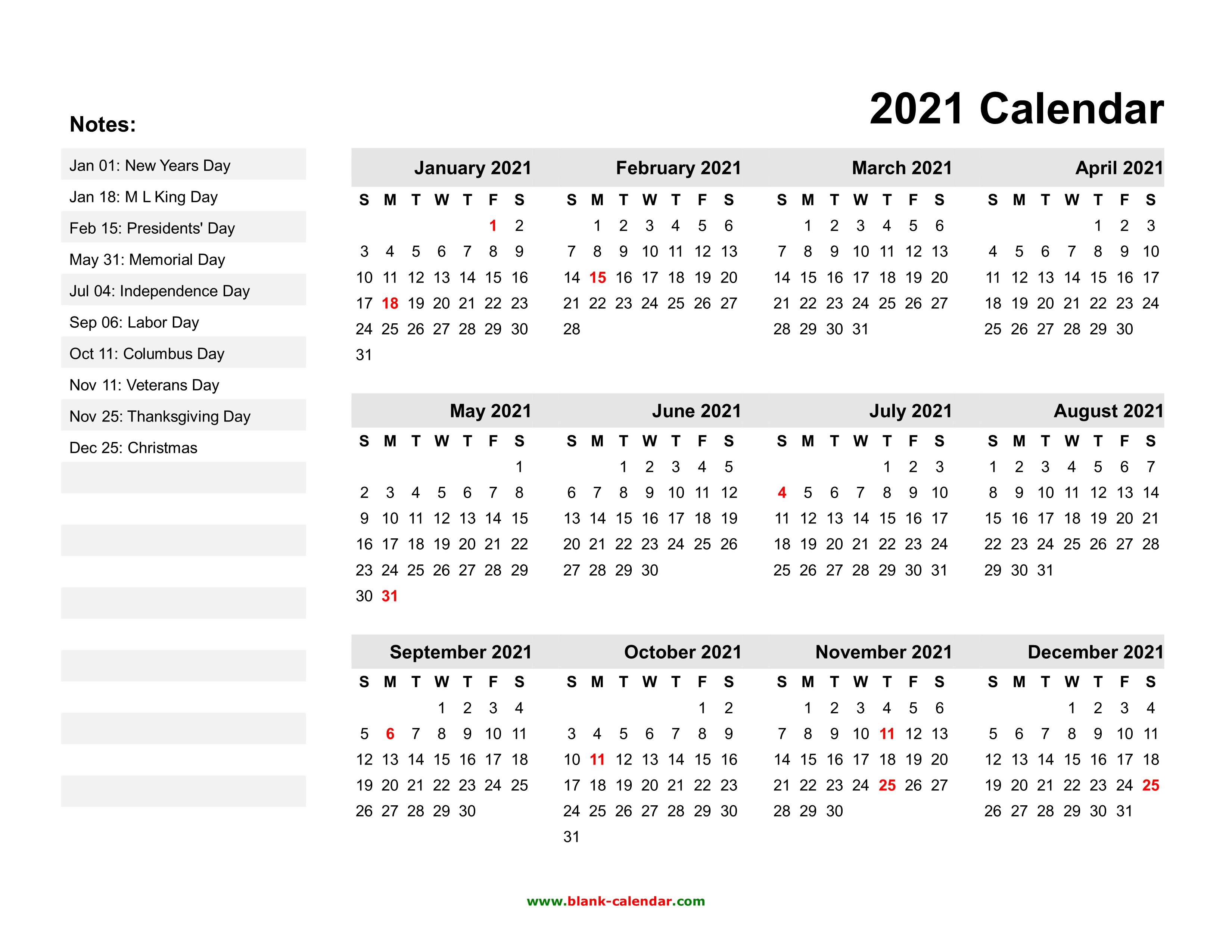 Wall calendars can be practical, unique, and fun at the same time. Yearly Calendar 2021 | Free Download and Print