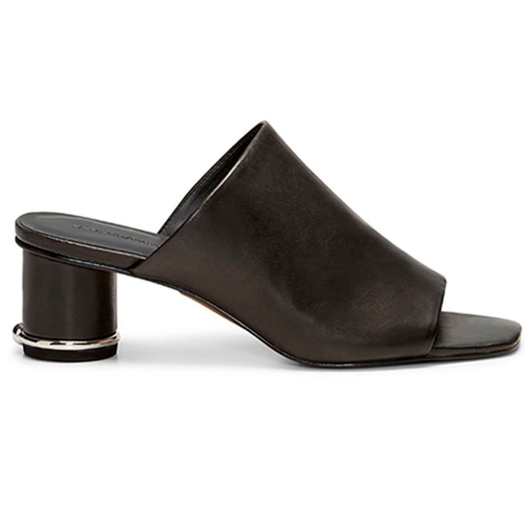 rebecca minkoff aceline mules in black - blankbox gift guide the fill