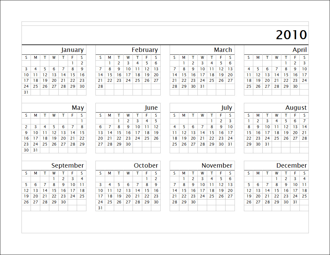 printable yearly calendars 2013
