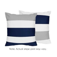 Navy & Gray Stripe Accent Pillows - Set of 2 - Blanket ...