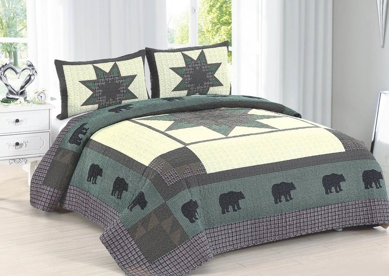 Bear Crossing Quilt  King Size American Hometex Quilts