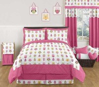 Happy Owl Comforter Set - 3 Piece Full/Queen Size By Sweet ...
