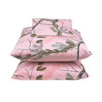 AP Pink Camo Sheet Set - Queen Size - Blanket Warehouse