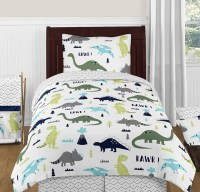 Mod Dinosaur Blue & Green Bedding Set