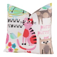 Crayola Purrty Cat Square Pillow - 26 X 26 Euro Pillow ...
