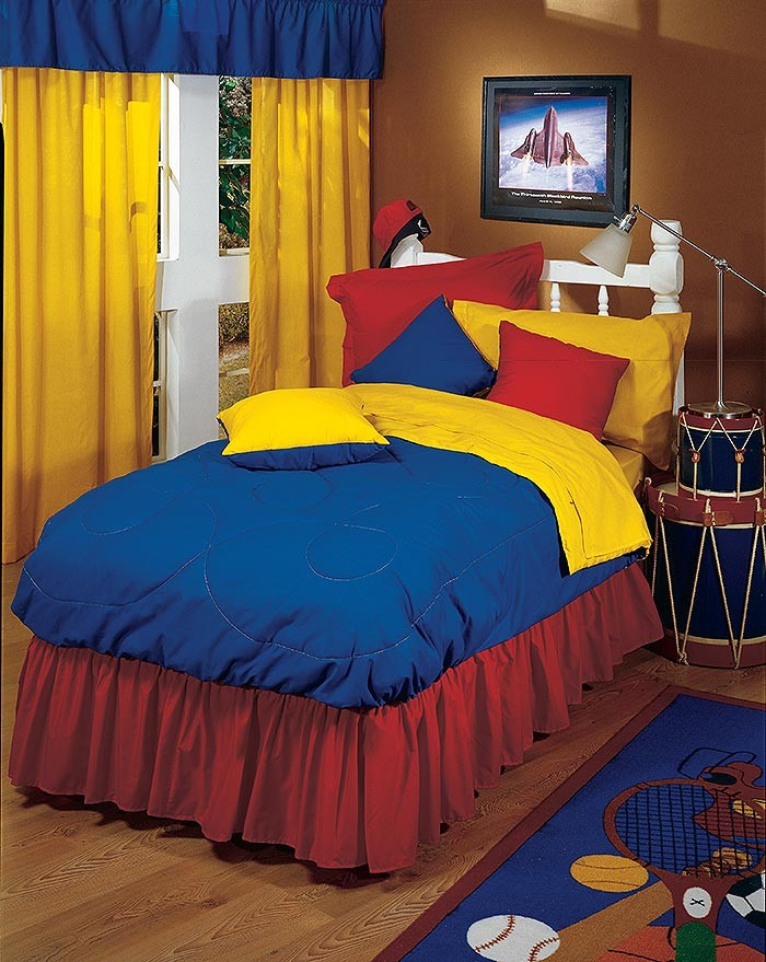 Primary Colors Full Size Fitted Bunkbed Comforter Yellow