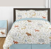 Woodland Toile Comforter Set - 3 Piece Full/Queen Size By ...