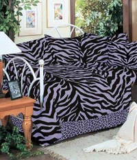 Black & Purple Zebra Print Daybed Set - Animal Print ...