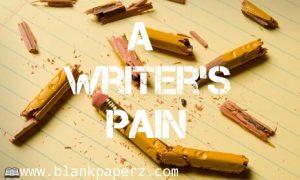 A writer's pain