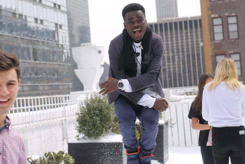 James Okina in New York as a Three Dot Dash Global Teen Leader
