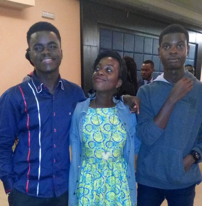 James Okina, Mirabelle Morah and Godwin Egba, Theee Dot Dash Global Teen Leaders