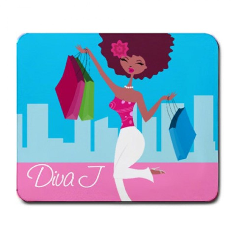 shopping diva personalized mouse