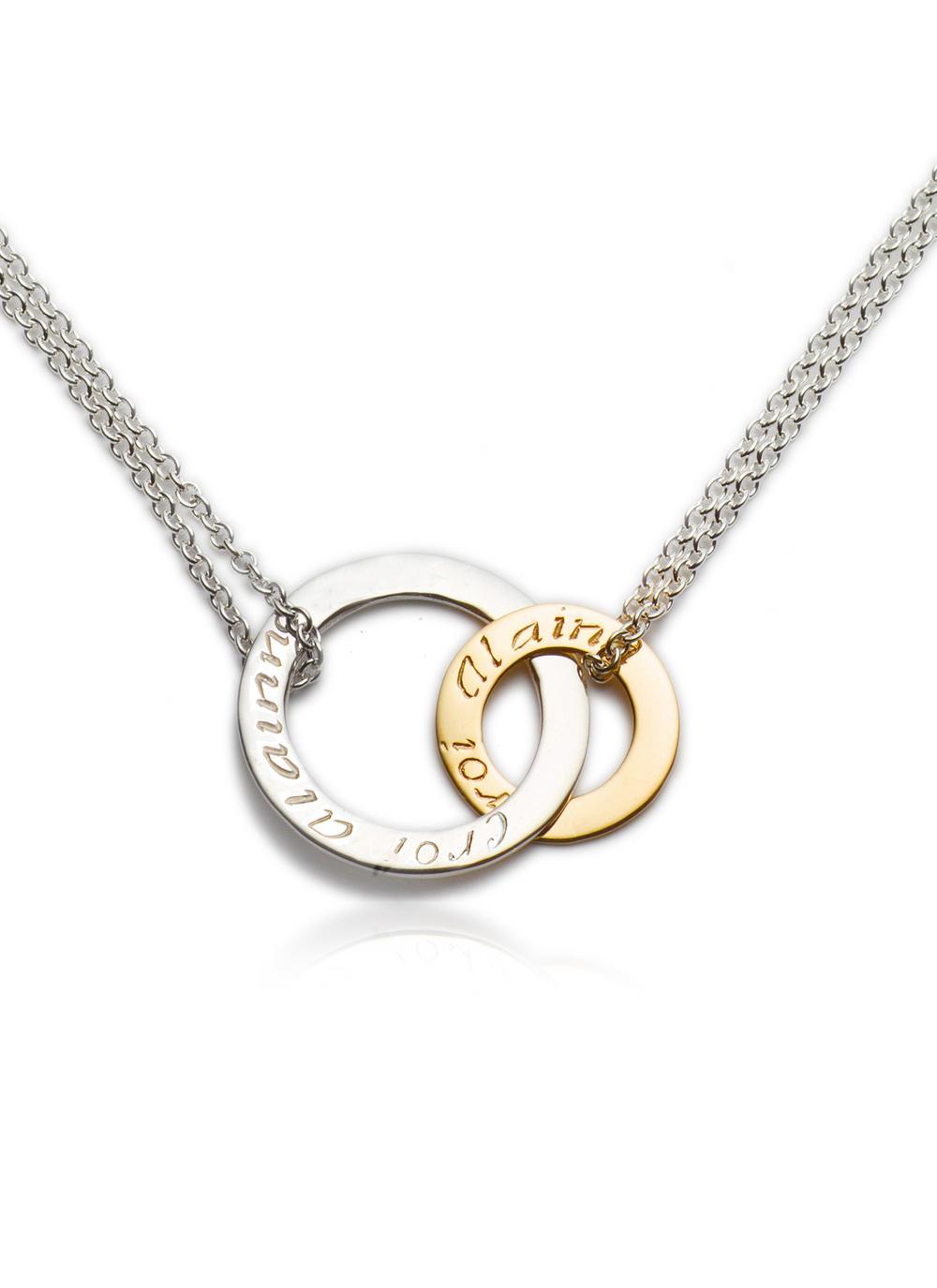 Sterling Silver and 9K Gold Croi Alainn Celtic Pendant