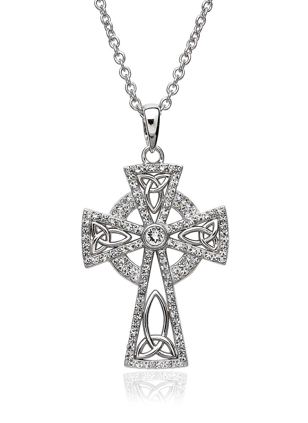Celtic Cross Pendant Embellished With Swarovski Crystals