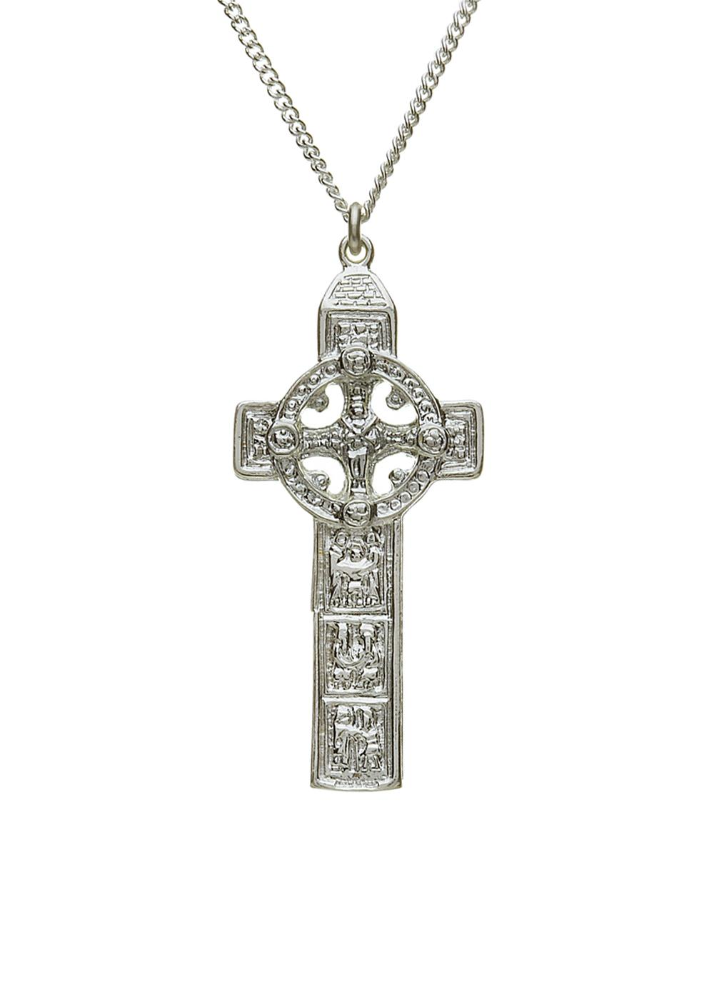 Sterling Silver Double Sided Clonmacnoise Celtic Cross