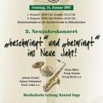 """Neujahrskonzert 2007 """"Beschwingt und beswingt ins neue Jahr"""""""