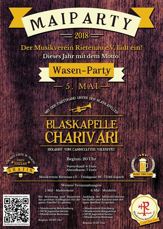 Maiparty des MVRietenau 2018