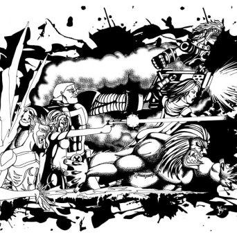 X-Men fan art publié dans le magasine SCARCE