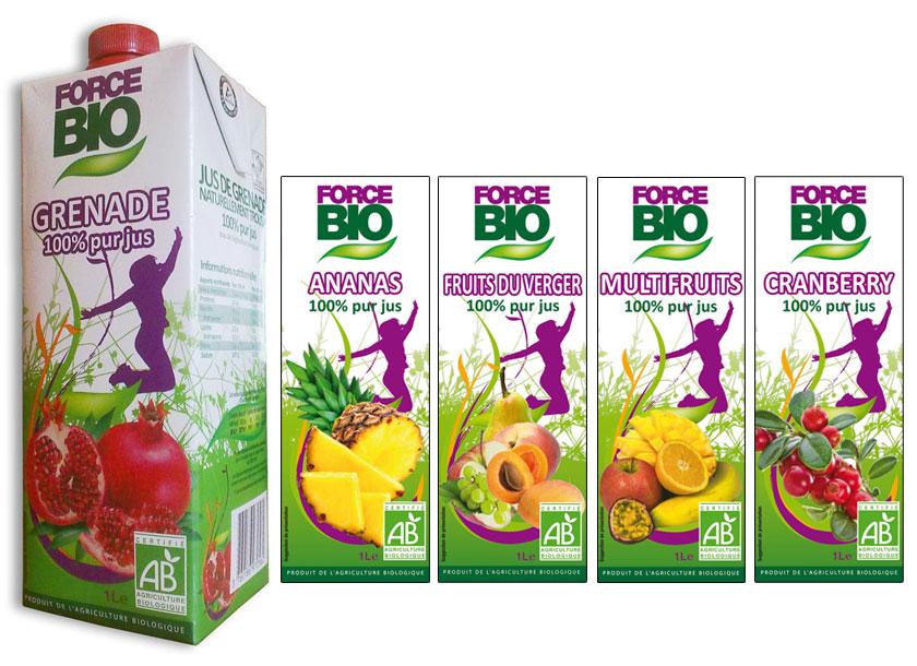 Ligne de packs pour jus de fruits