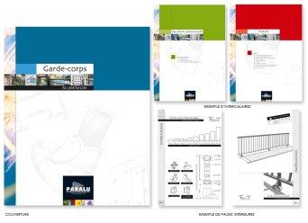 Classeur réalisé pour un fabricant de menuiserie, façades et garde-corps en aluminium