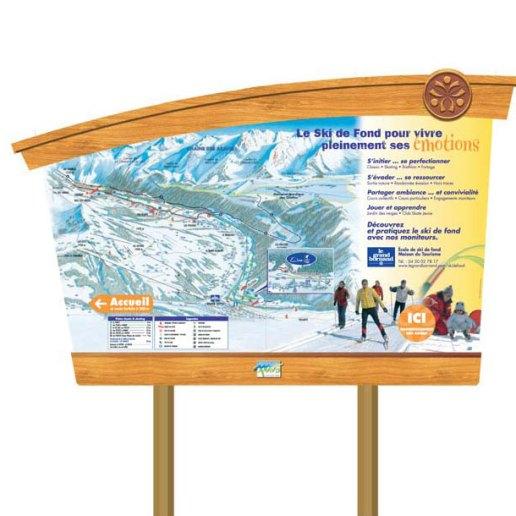 Série de panneaux de localisation pour la station de ski Gavarnie-Gèdre