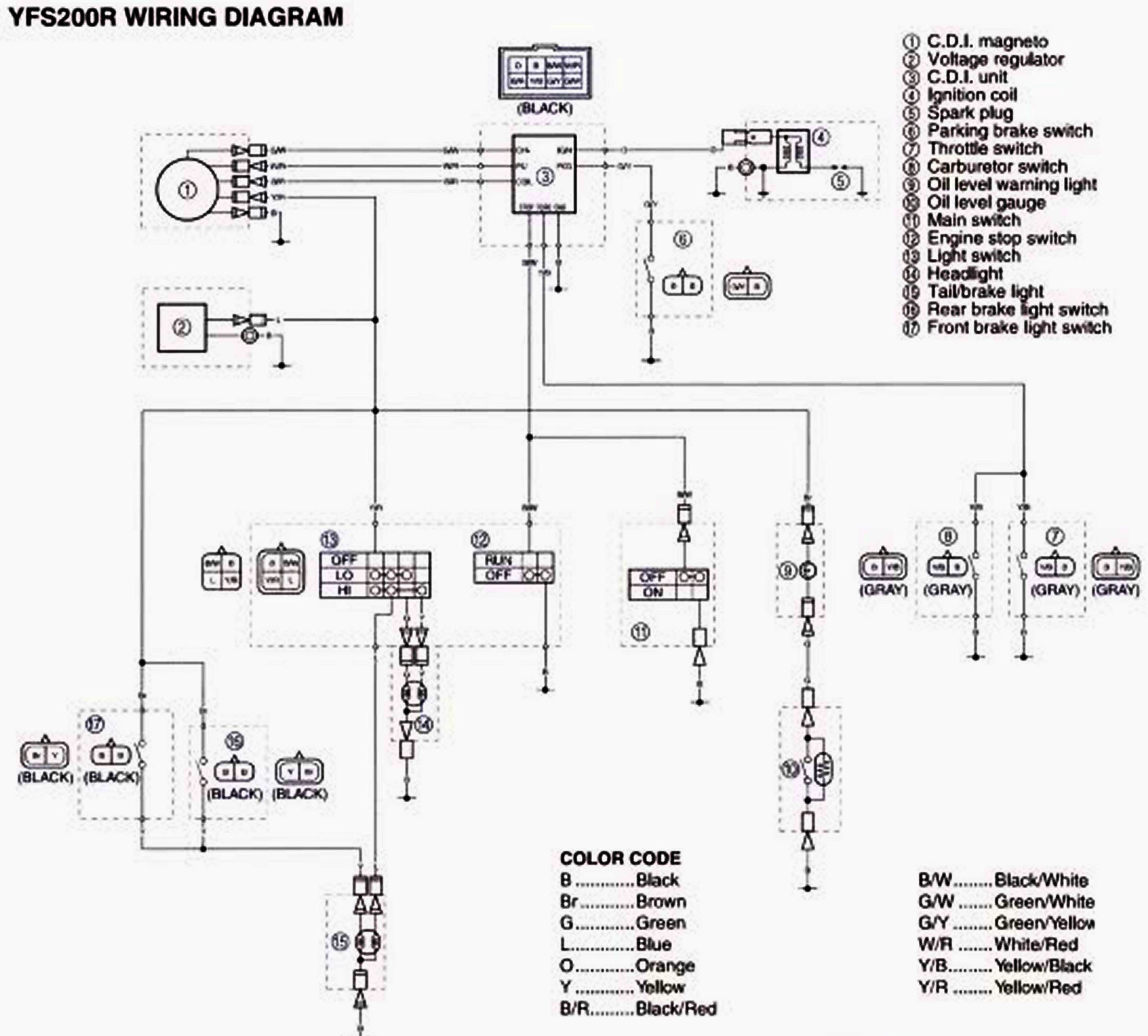 Yamaha Blaster Electrical Diagram, Yamaha, Free Engine