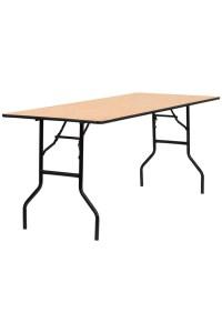 Hire a Rectangular Wooden Trestle Table 4' x 2'6 ...