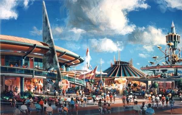 Tomorrowland Disney World Art
