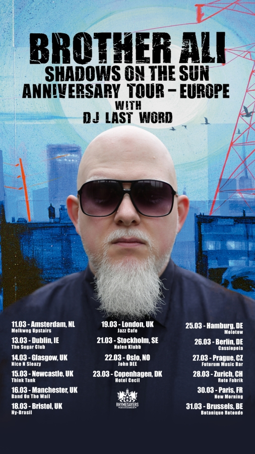 brother ali, tour, europe, rhymesayers