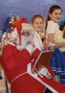 Der hl. Nikolaus auf dem Familienabend
