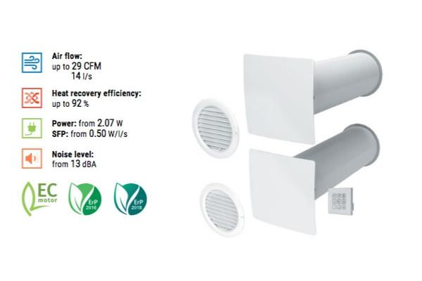 Vento Series ECO2 A50 Pro Features Single Room Ventilator