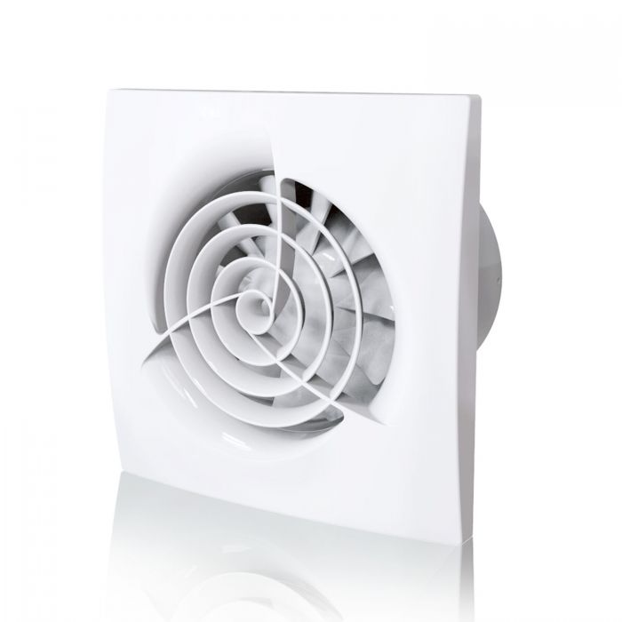 quiet bathroom extractor fan with humidity sensor timer blauberg trio powerful wall ceiling mounted ventilator 4 100 mm