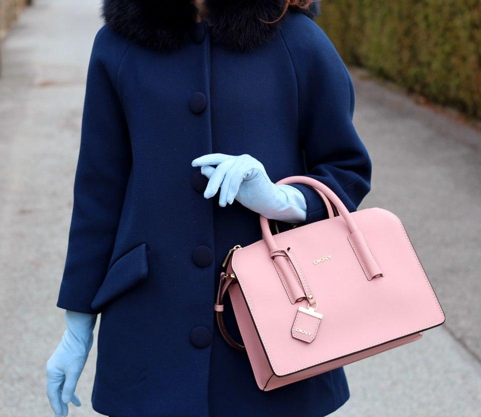 Handschuhe babyblau, himmelblau